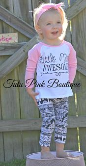 Leggings & Top Set Little Miss Awesome