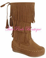 Boots Moccasins Tan or Black
