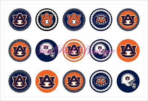 Bottle Caps Auburn Tigers