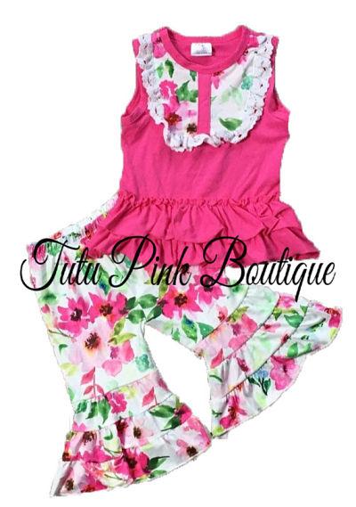 Ruffle Capri & Ruffle Tunic Floral
