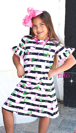 Boutique Dress Flamingo