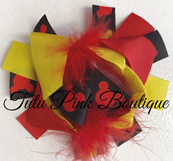 Hair Bow Boutique Layered Feather Bow Mouse