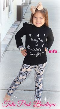 Leggings & Hoodie Set A Snowflake is Winter's Butterfly