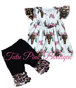 Shorts & Top Set Gypsy Rose Pink