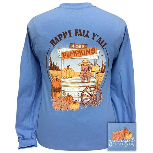 Tee Shirt Fall Pumpkin Scene Girlie Girl