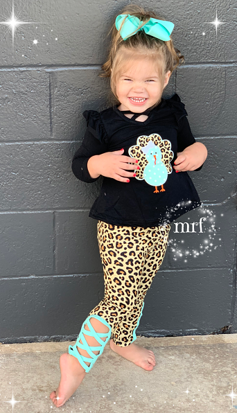 Leggings & Turkey Tunic Leopard