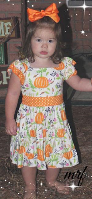 Boutique Dress Fall Pumpkin