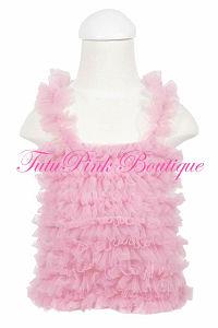 Petti Top Chiffon Ruffles Pink
