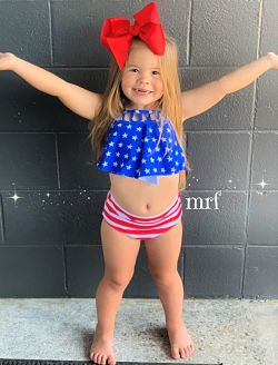 Swimsuit Red White Blue