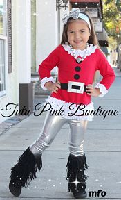 Leggings & Top Set Santa Baby