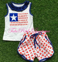 Shorts & Top Set Red White Blue Track Shorts
