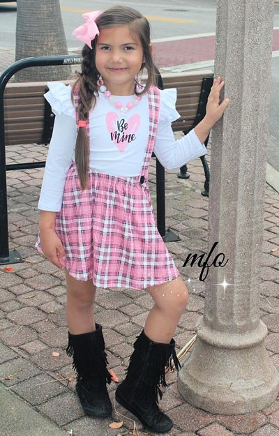 Suspenders Skirt Set