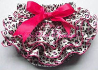 Bloomers Satin Hot Pink Leopard