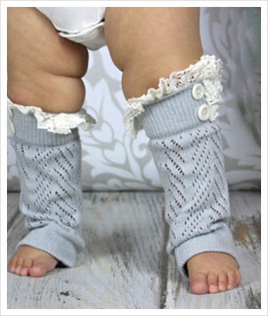 Leg Warmers Crochet & Lace Boot Cuffs
