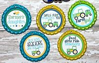 Bottle Caps Country Cutie John Deere Inspired Blue & Green