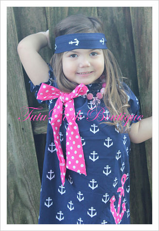 Headband Knotted Anchor Nautical
