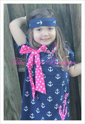 Headband Knotted Anchor Nautical