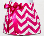 Chevron Bow Skirt Hot Pink