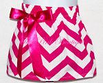 Chevron Bow Skirt Hot Pink