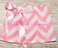 Chevron Bow Skirt Pink
