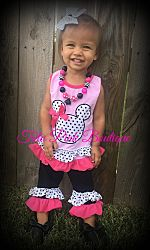 Ruffle Capri & Tunic Set Minnie Mouse