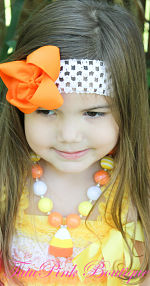 Chunky Necklace Candy Corn Petite Series