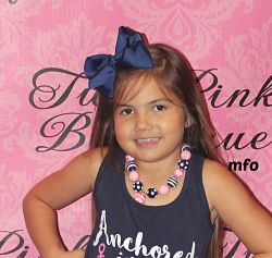 Chunky Necklace Navy & Pink