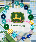 Chunky Necklace Blue John Deere Cutie Inspired Statement Series