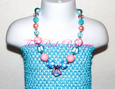 Chunky Necklace Cotton Candy Petite Series