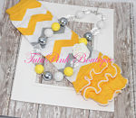 Chunky Necklace Gray, Yellow, White Rose Statement Series