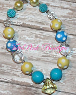 Chunky Necklace Lemon Twist Turquoise Yellow Pettie Series
