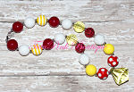 Chunky Necklace Red, Yellow, White Statement Series Mickey Mouse Inspired