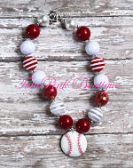 Chunky Necklace Baseball Petite Series