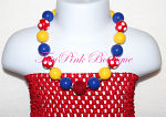 Chunky Necklace Snow White Inspired or Circus Inspired Petite Series