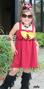 Boutique Tunic Dress Bow Top Game Day Dress Garnet Gold
