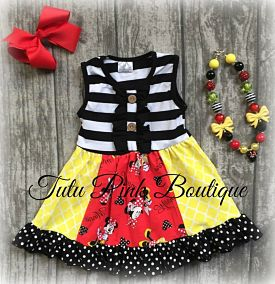 Boutique Ruffle Dress MM Inspired