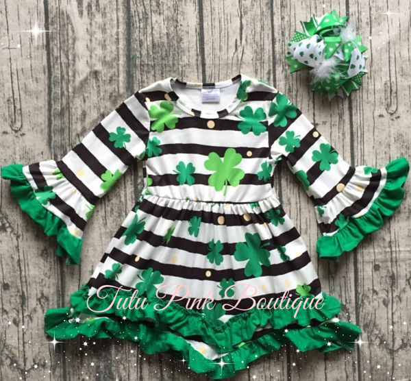 Boutique Dress Clover St. Patrick's Day