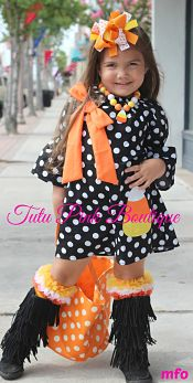 Boutique Dress Candy Corn Halloween Cutie