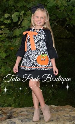Boutique Dress Damask Pumpkin