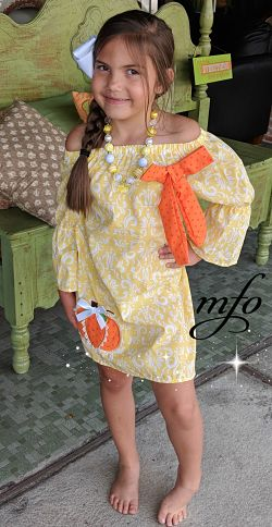 Boutique Dress Sassy Southern Lace Pumpkin Damask