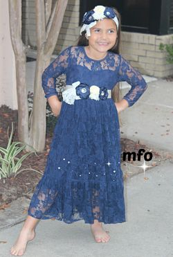 Maxi Dress Navy Lace
