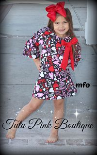 Boutique Dress LOVE Valentine