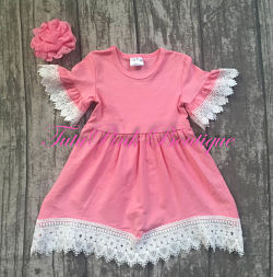 Boutique Dress Heirloom Lace Pink