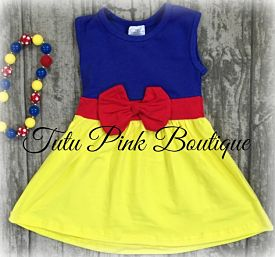 Boutique Dress Snow White Inspired