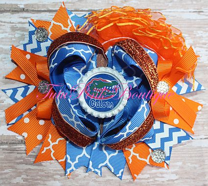 Hair Bow Boutique Over The Top Florida Gators Football