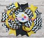 Hair Bow Boutique Stacked Steelers
