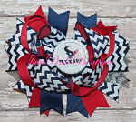 Hair Bow Boutique Stacked Texans