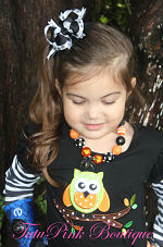 Chunky Necklace Halloween Spider