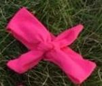 Headband Knotted Hot Pink