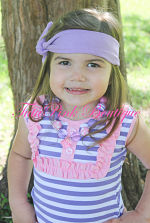 Headband Knotted Purple